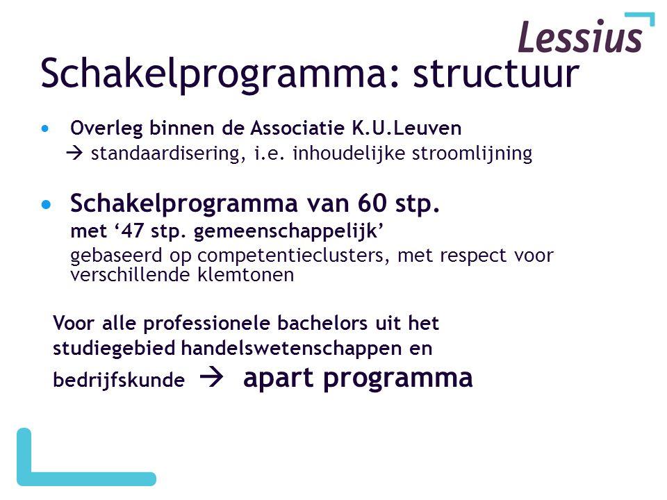 Schakelprogramma: structuur
