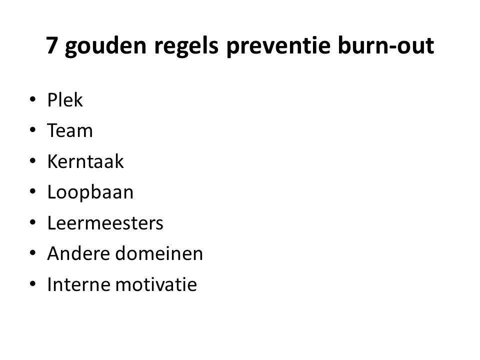 7 gouden regels preventie burn-out