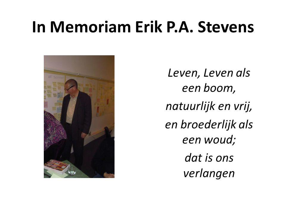 In Memoriam Erik P.A. Stevens
