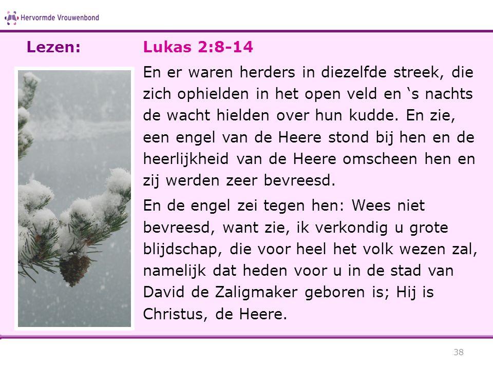 Lezen: Lukas 2:8-14.