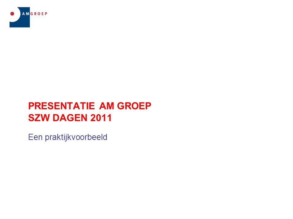 PRESENTATIE AM GROEP SZW DAGEN 2011 Een praktijkvoorbeeld