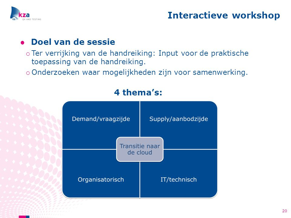 Interactieve workshop