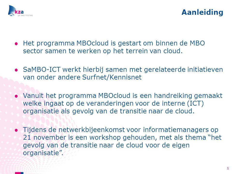 Aanleiding Het programma MBOcloud is gestart om binnen de MBO sector samen te werken op het terrein van cloud.