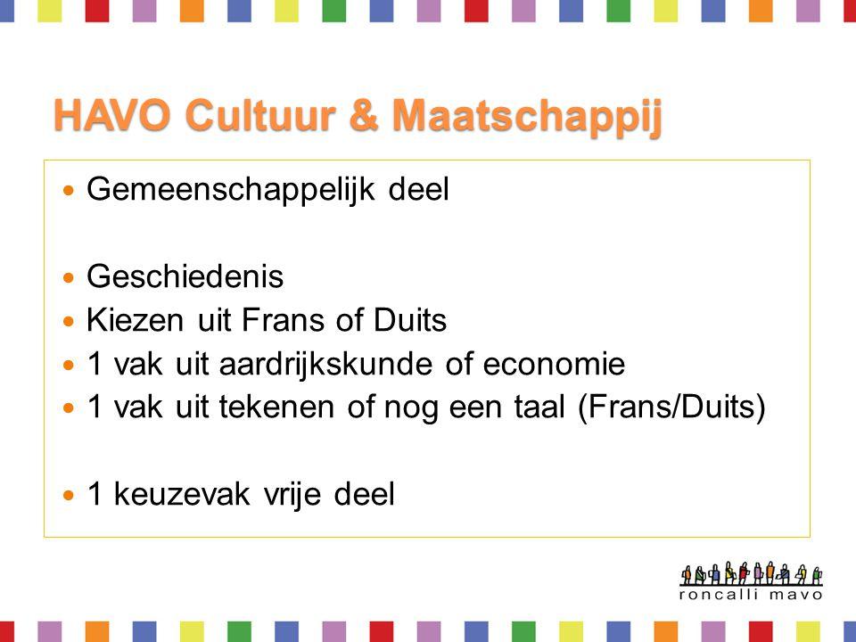 HAVO Cultuur & Maatschappij