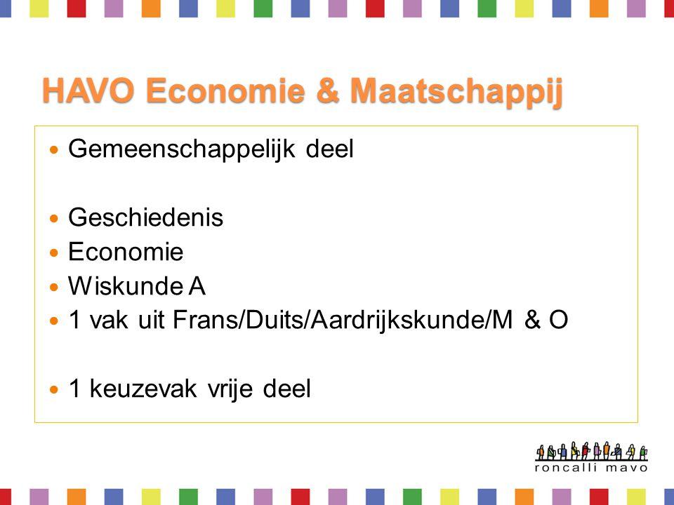 HAVO Economie & Maatschappij
