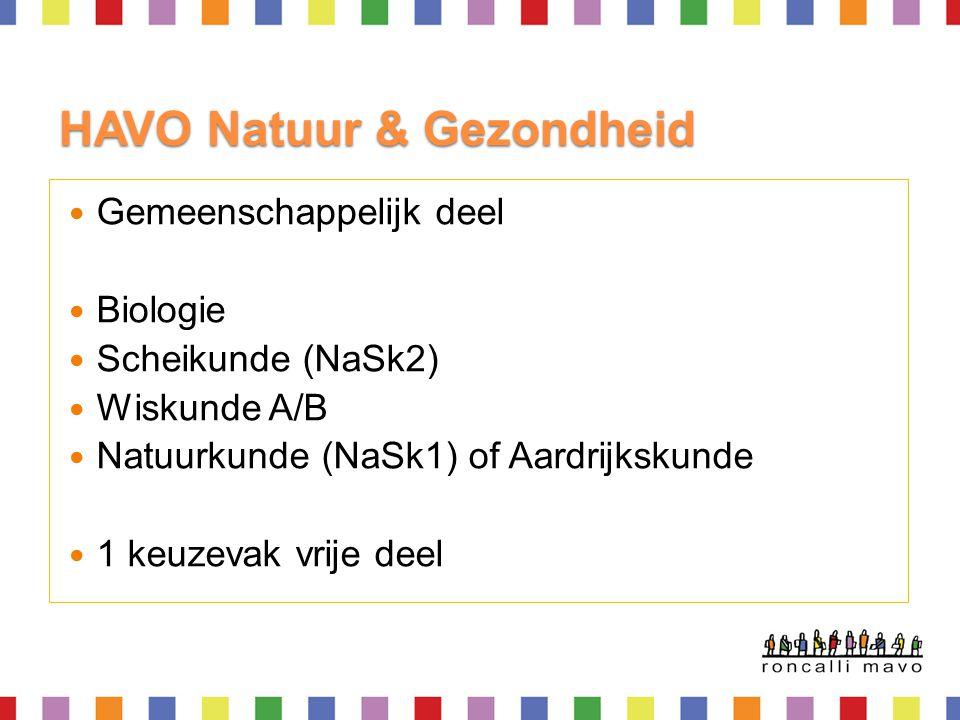 HAVO Natuur & Gezondheid