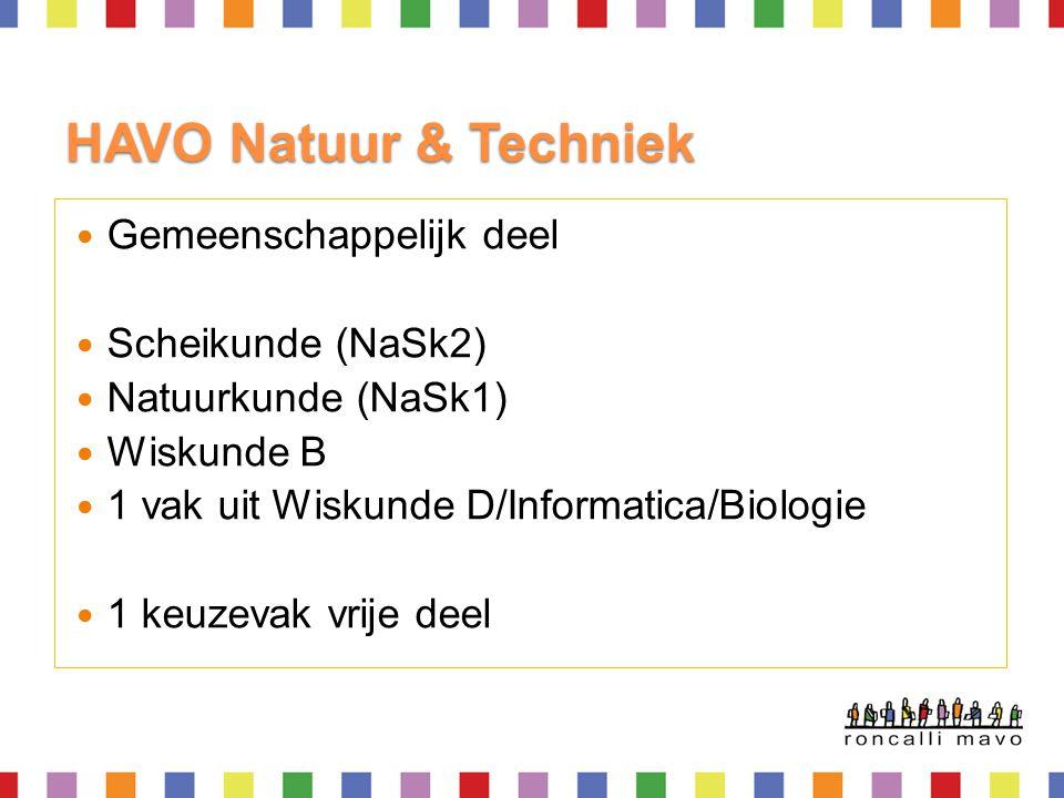 HAVO Natuur & Techniek Gemeenschappelijk deel Scheikunde (NaSk2)
