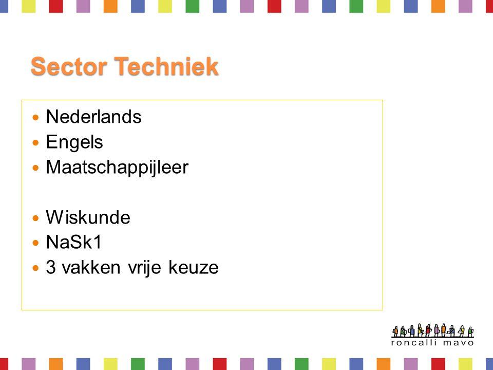 Sector Techniek Nederlands Engels Maatschappijleer Wiskunde NaSk1
