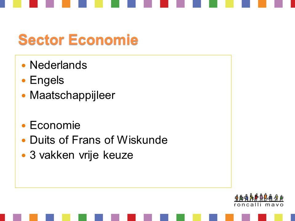 Sector Economie Nederlands Engels Maatschappijleer Economie