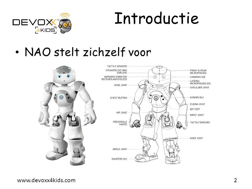 Introductie NAO stelt zichzelf voor