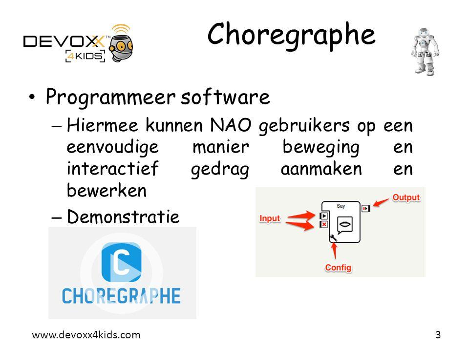 Choregraphe Programmeer software
