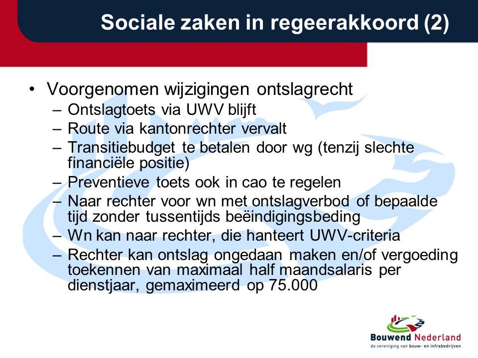 Sociale zaken in regeerakkoord (2)