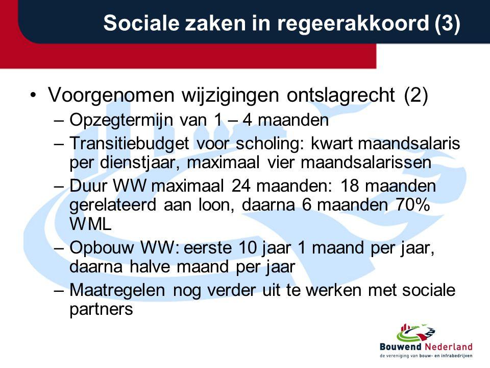Sociale zaken in regeerakkoord (3)