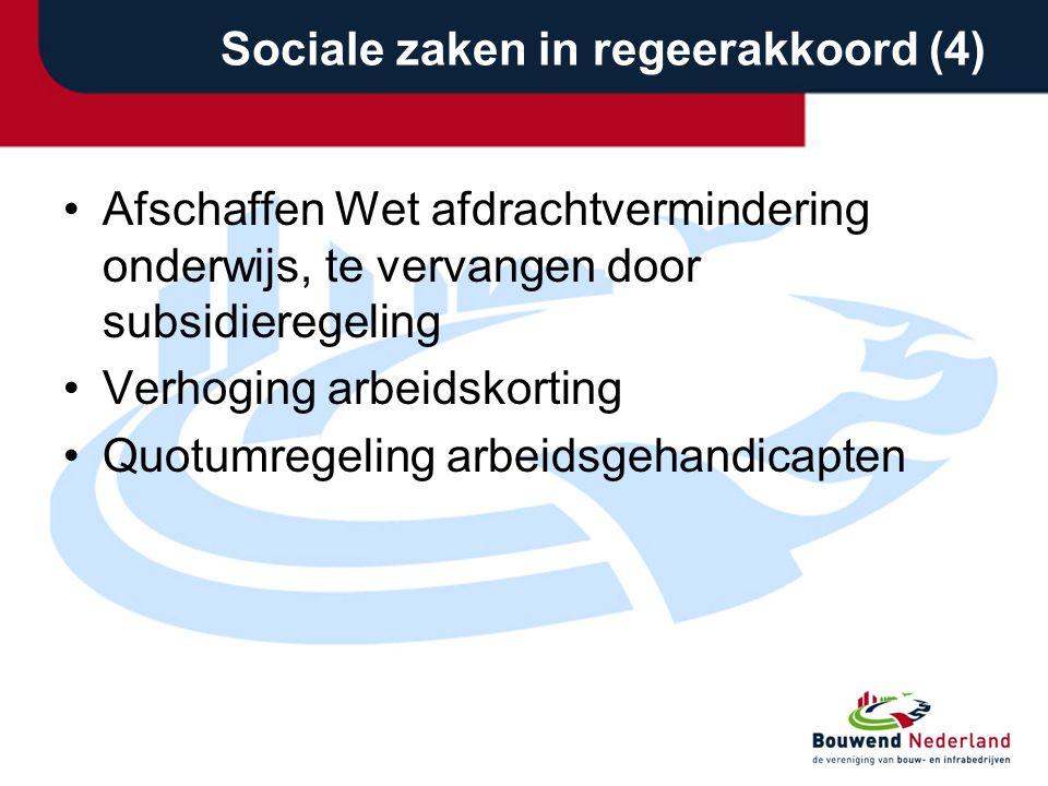 Sociale zaken in regeerakkoord (4)