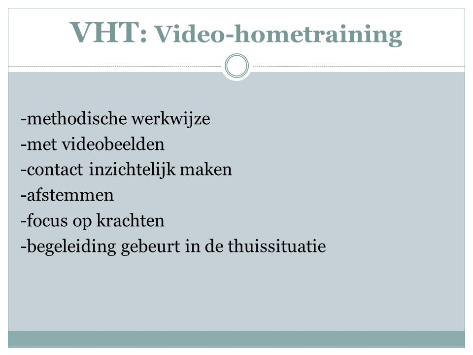 VHT: Video-hometraining