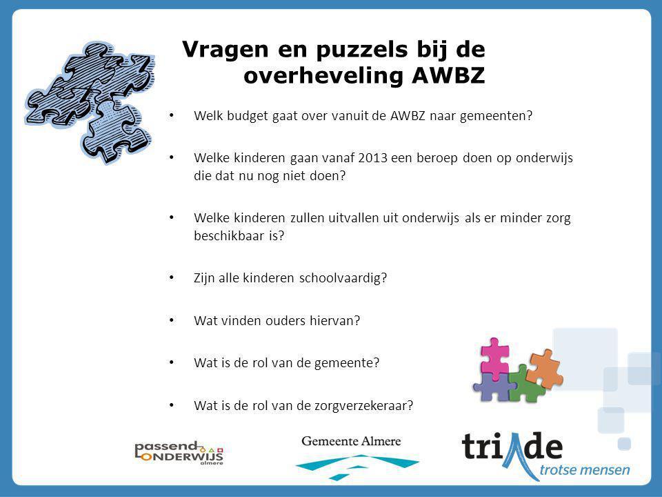 Vragen en puzzels bij de overheveling AWBZ