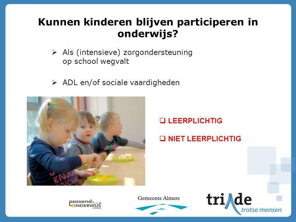 Kunnen kinderen blijven participeren in onderwijs