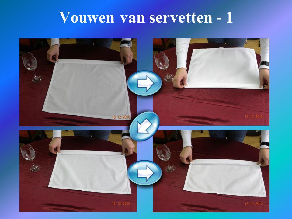 Vouwen van servetten - 1