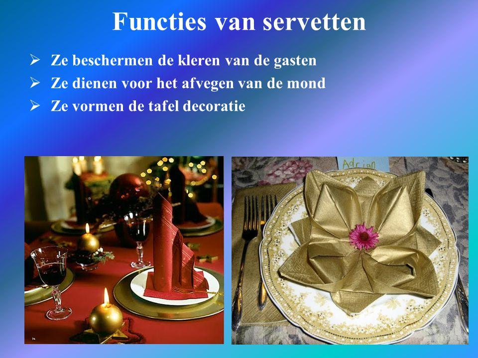 Functies van servetten