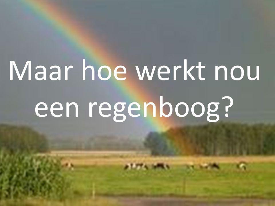 Maar hoe werkt nou een regenboog