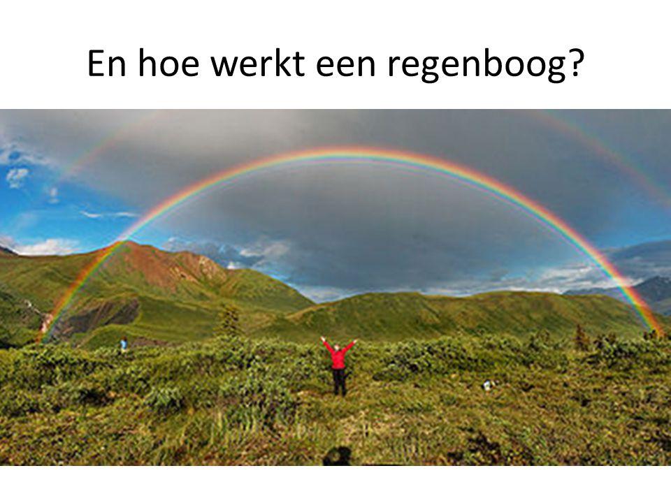 En hoe werkt een regenboog