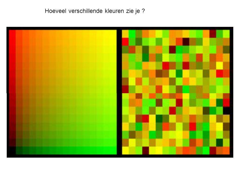 Hoeveel verschillende kleuren zie je