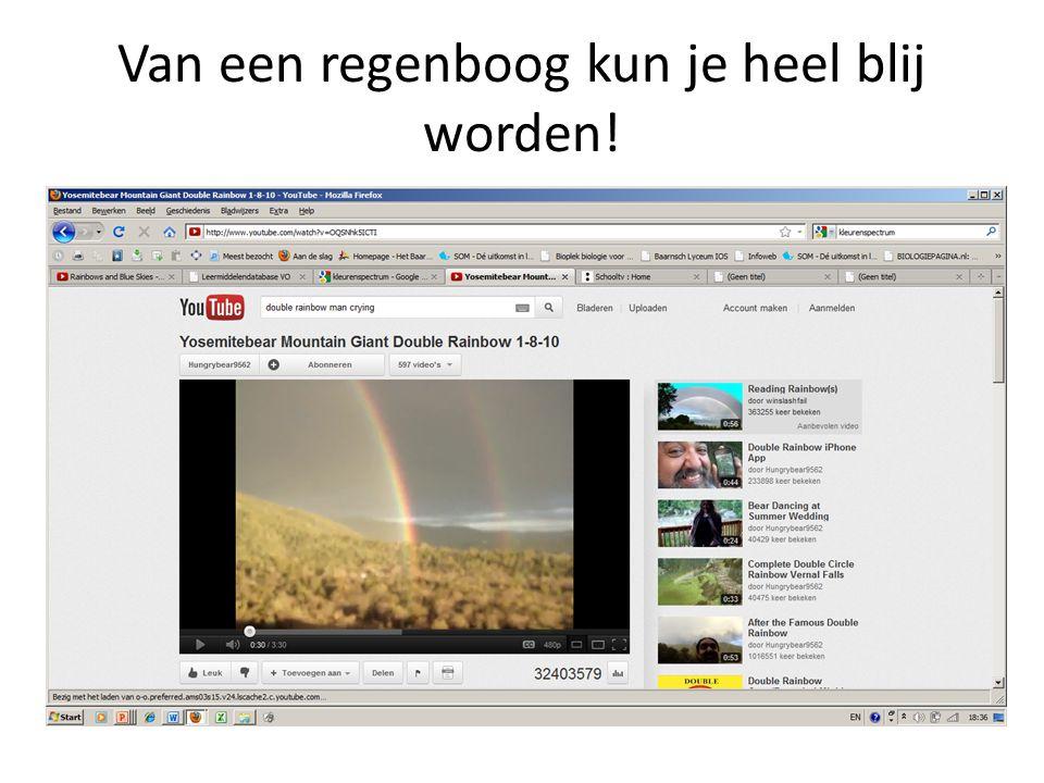 Van een regenboog kun je heel blij worden!