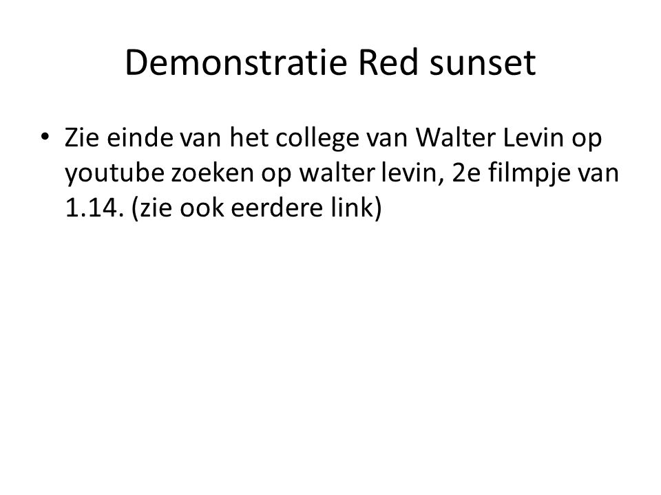 Demonstratie Red sunset