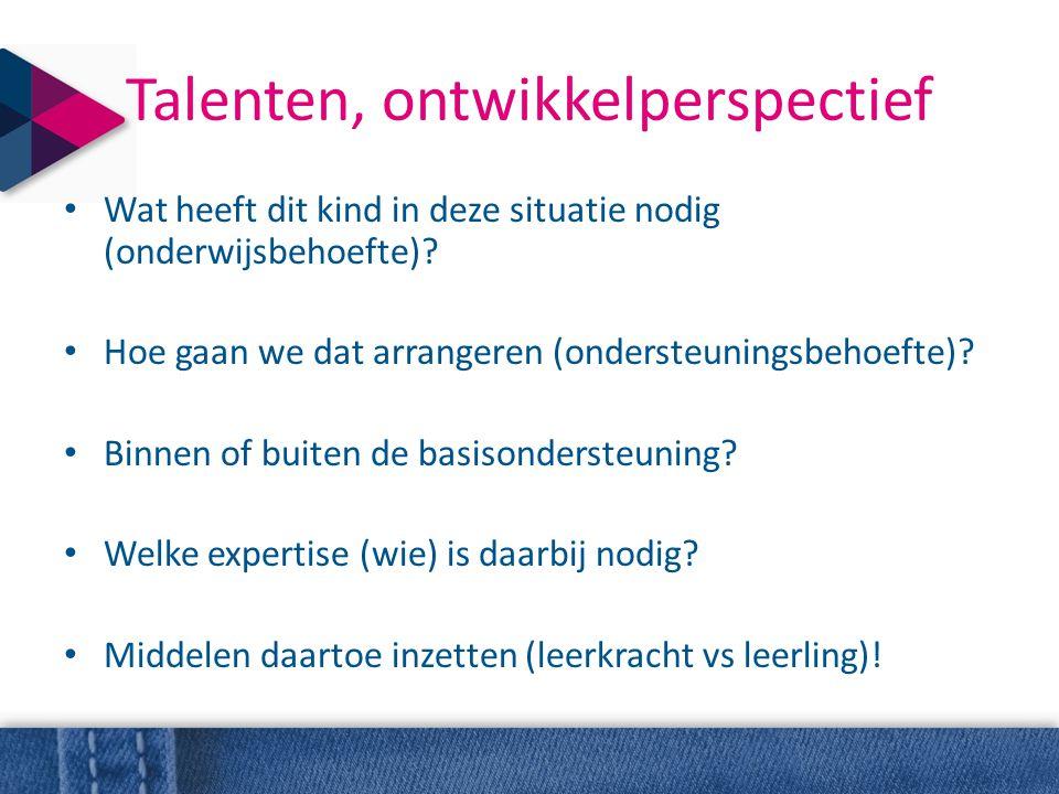 Talenten, ontwikkelperspectief
