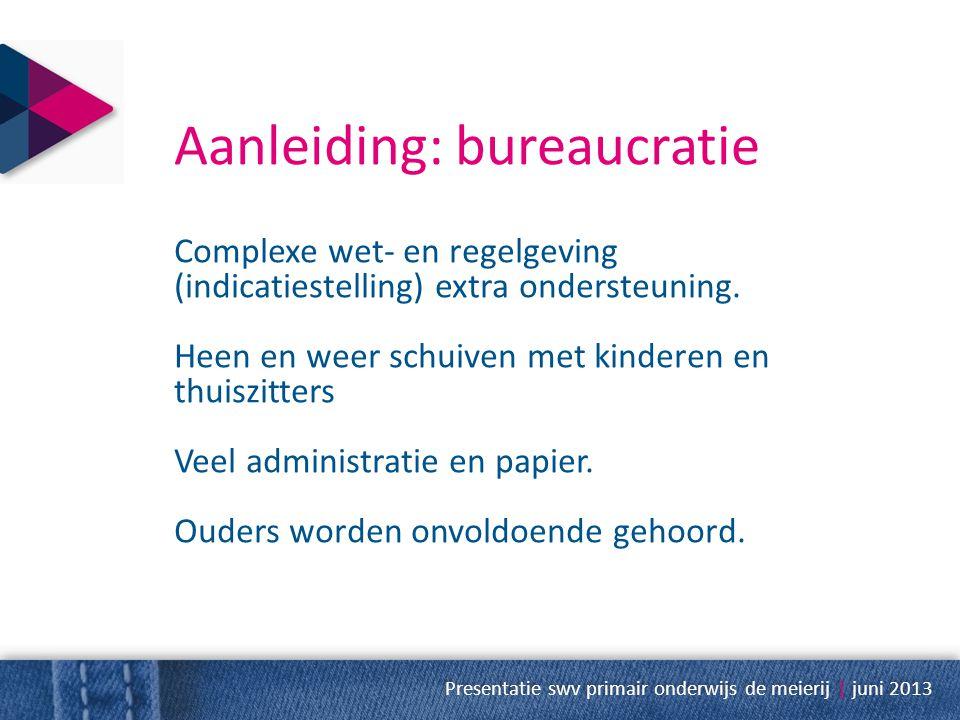 Aanleiding: bureaucratie