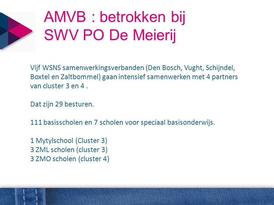 AMVB : betrokken bij SWV PO De Meierij