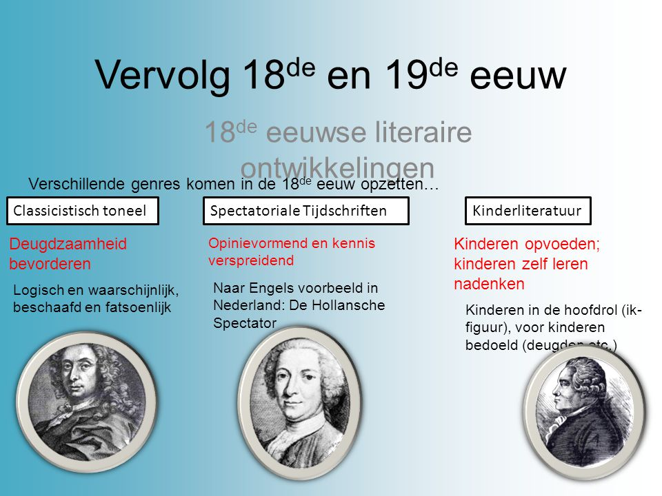 18de eeuwse literaire ontwikkelingen