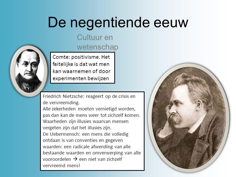 De negentiende eeuw Cultuur en wetenschap