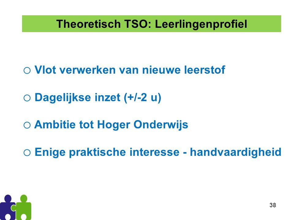 Theoretisch TSO: Leerlingenprofiel