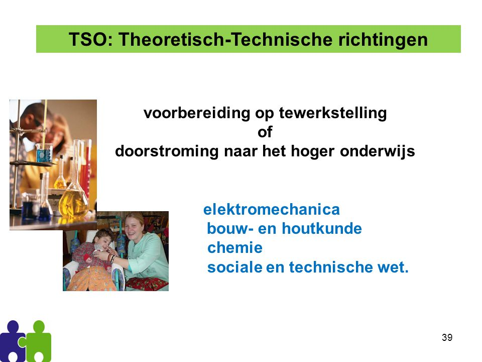 TSO: Theoretisch-Technische richtingen