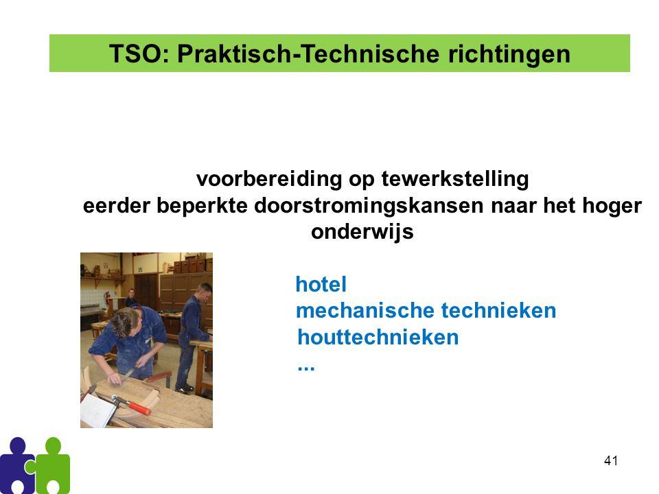 TSO: Praktisch-Technische richtingen
