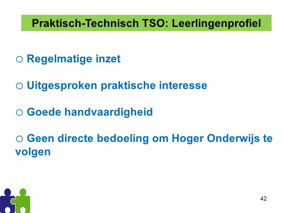 Praktisch-Technisch TSO: Leerlingenprofiel