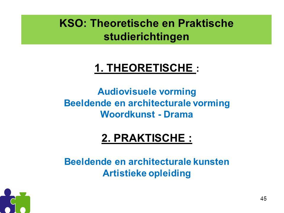KSO: Theoretische en Praktische studierichtingen