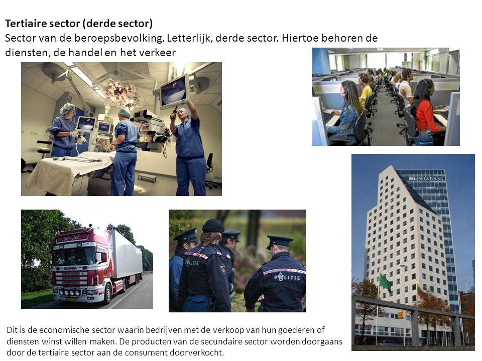 Tertiaire sector (derde sector) Sector van de beroepsbevolking