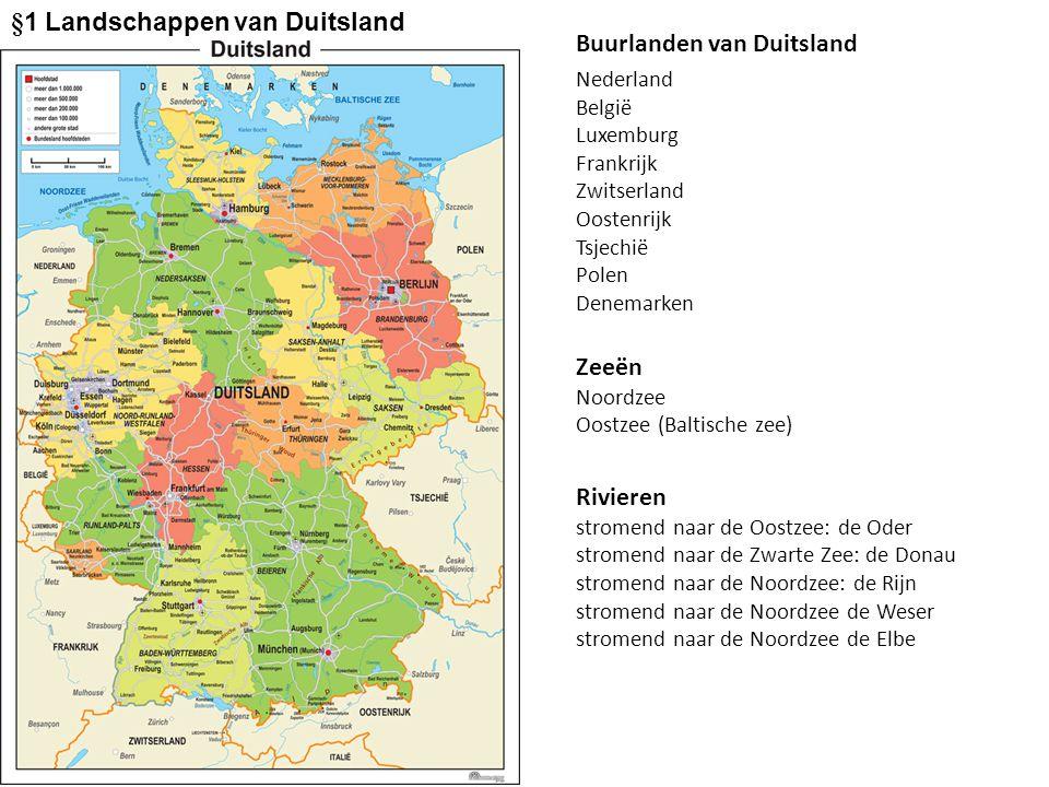 §1 Landschappen van Duitsland Buurlanden van Duitsland