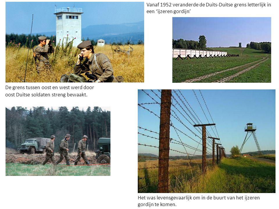 Vanaf 1952 veranderde de Duits-Duitse grens letterlijk in een 'ijzeren gordijn'