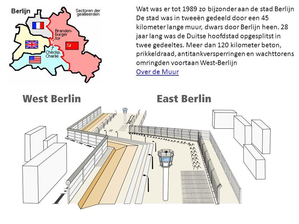Wat was er tot 1989 zo bijzonder aan de stad Berlijn