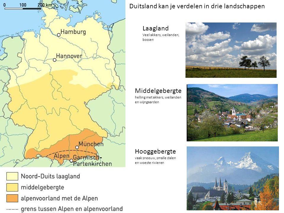 Duitsland kan je verdelen in drie landschappen