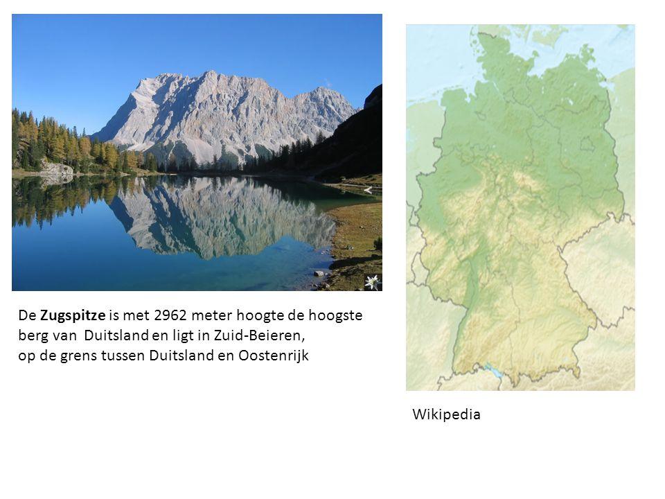 De Zugspitze is met 2962 meter hoogte de hoogste