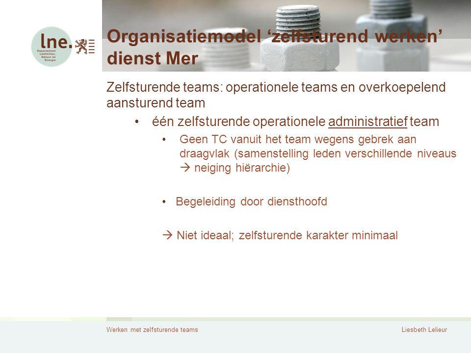 Organisatiemodel 'zelfsturend werken' dienst Mer