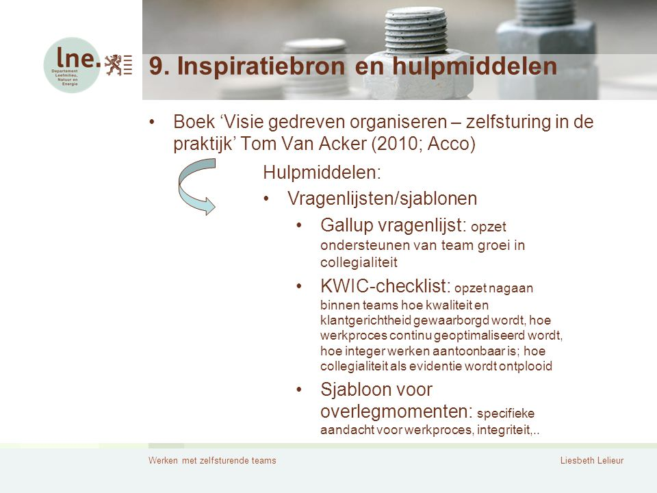 9. Inspiratiebron en hulpmiddelen