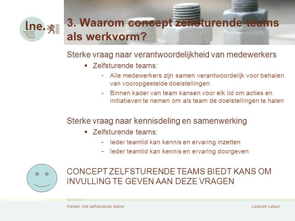 3. Waarom concept zelfsturende teams als werkvorm