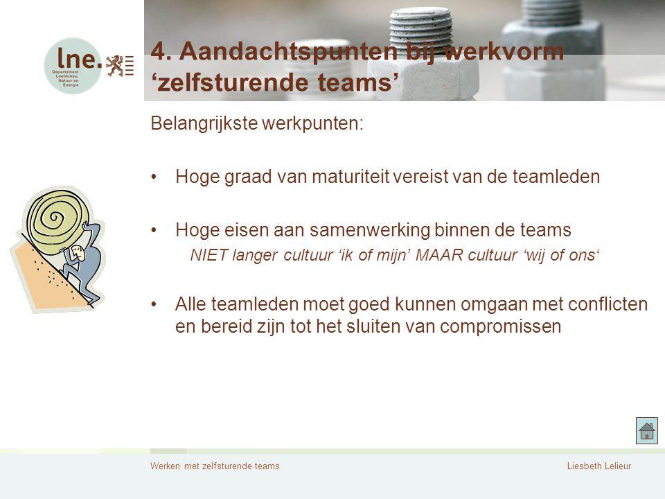 4. Aandachtspunten bij werkvorm 'zelfsturende teams'