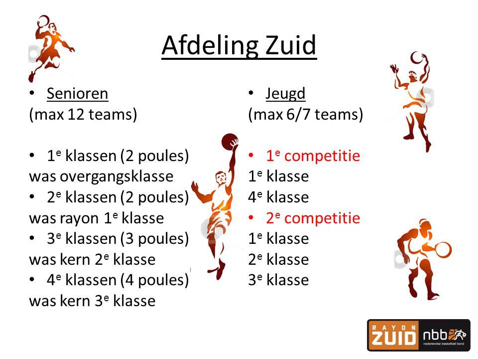 Afdeling Zuid Senioren (max 12 teams) 1e klassen (2 poules)