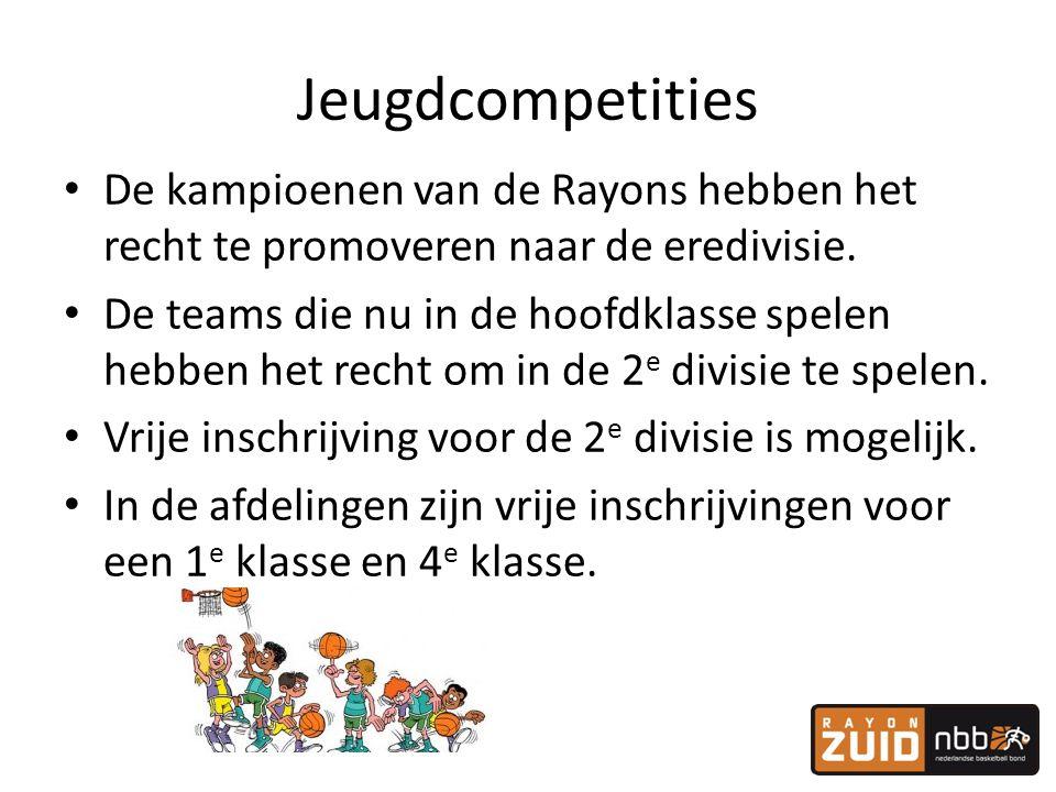 Jeugdcompetities De kampioenen van de Rayons hebben het recht te promoveren naar de eredivisie.